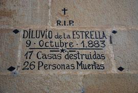 Inscripción que recuerda el suceso