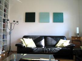 Trilogie Green-Line, 3 x 50 x 50 cm