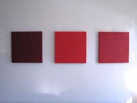 Trilogie RED-uktion, 50 x  50 cm
