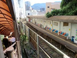 商店街内に設置されている駅