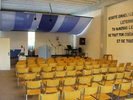 La salle de cultes, à Boxal (2005)