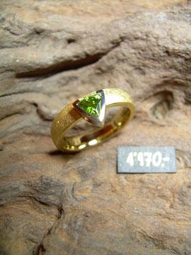 Bild:Ring,Gelbgold/Weissgold750,18kt,Turmalin,Unikat
