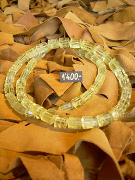 Bild:Halsschmuck,Edelsteincollier,Edelsteinkette,Beryll,gelb,Tonneauverschluss,Weissgold750,18kt,Unikat