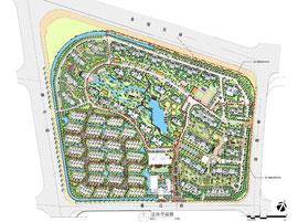 華東地区での大規模住宅開発平面図
