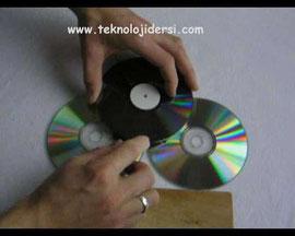 Parçadan oluşan 2 adet cd lerin birleştirilmesiyle oluşan