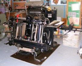 Presse à imprimer  Heidelberg, 1950