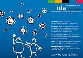 Die IDA woche 2013 in der Stadt St.Gallen, Veranstaltugnsübersicht