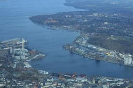 Ein Blick auf den Flensburger Außenhafen
