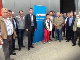 Im Gewerbegebiet Camp Astrid informierte die CDU über den aktuellen Sachstand und die Planungen für die Zunkunft.