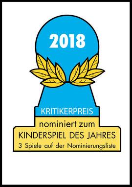 Nominierungen für das Kinderspiel des Jahres 2018