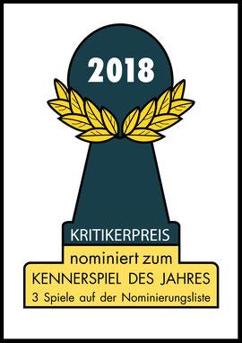 Nominierungen zum Kennerspiel des Jahres 2018