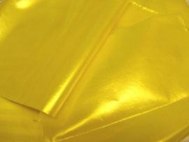 hochglänzende gelbe Kunstfaser, beschichtet