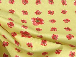 Malvenblüten auf gelbem Grund