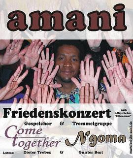 'amani'-Plakat, Foto Gunter Best