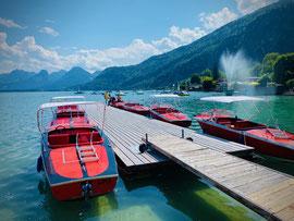 Elektroboote mieten bei Wassersport Engel in St. Gilgen am Wolfgangsee