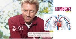 """Boris Becker: """"Super Omega 3 activ contribue à ma forme et c'est essentiel."""""""