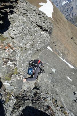 Ferdenrothorn, Nordgrat, Kletterstelle, Balmhorn, Gitzifurggu, Lötschenpass, Lötschenpasshütte