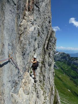 Klettern, Moor, Moorphium, Alpstein, 4. Seillänge