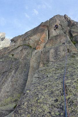 Climbing,  Klettern, Chamonix, Envers des Aiguilles, Le piège