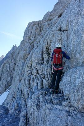Gross Ruchen Nordwand, Bergtour, Hochtour, Uri, Klausenpass, Forellensprung, Forellen-Sprung, Schlüsselstelle