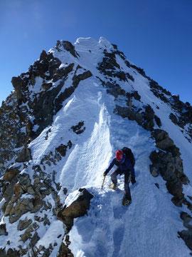 Finsteraarhorn, Gipfelgrat, Jungfraugebiet, Skitouren, Schweiz
