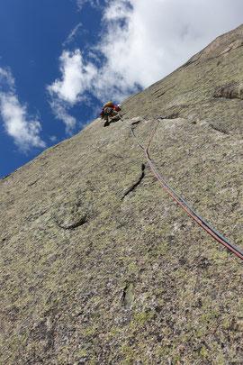 Climbing,  Klettern, Chamonix, Envers des Aiguilles, Guy-Anne