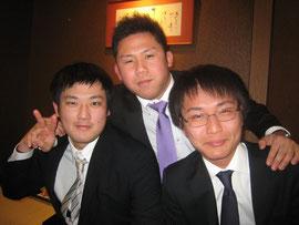 上田さん、堀田さん(真ん中は久米さん)@追いコン