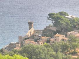Vistas del torreón del castillo de Tossa