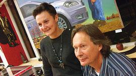 Masha Kholmogorova und Evgeny Makeev während der Vernissage