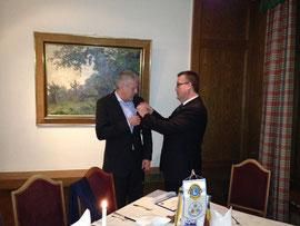 Neues Mitglied LF Schwab und der Präsident