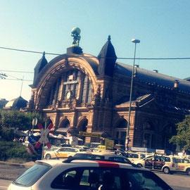 フランクフルトの駅