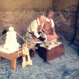 ローマ時代の生活の様子も展示されています