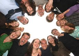 Das Wahlmobil-Team. Foto: Jens Weber