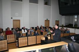 """Nach der Einführung waren die """"Neuen"""" im saarländischen Landtag bereit zur Arbeitsaufnahme."""