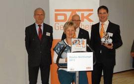 Minister Norbert Bischoff, Dr. Silvia Ristow (Stadt Bernburg), Björn Schönberg, Andreas Umlauf (DAK)