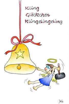Weihnachtskarte Kling Glöckchen klingelingeling