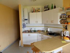 Küche - Blick vom Wohnzimmer aus