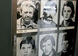 """6 von den 9 Bergleuten aus dem Kohlenbergwerk """"Wujek"""" in Katowitz, die von der Miliz am 16.12.1981 erschossen wurden."""