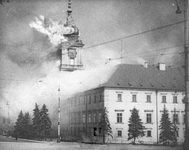 September 39. Der brennende Königliche Schloss in Warschau
