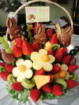 canasta de animalitos y fresas organicas