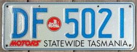 australisches Kennzeichen TAS
