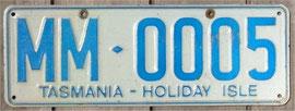 Nummernschild aus Tasmanien