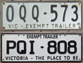 australisches Kennzeichen Victoria