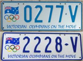 australische Nummernschilder aus Victoria