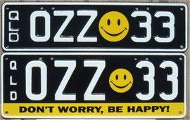 australische Nummernschilder QLD
