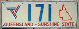 australisches Nummernschild QLD