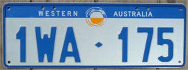 Kennzeichen aus West Australien
