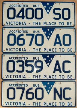 Nummernschilder aus Australien