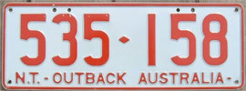 Kennzeichen aus Australien NT