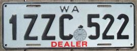 Nummernschild aus West Australien